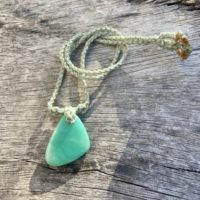 Chrysoprase Necklace, Raw Stone Necklace, Genuine Natural Chrysoprase, Polished Chrysoprase, Macrame Jewelry | Natural genuine Gemstone jewelry. Buy crystal jewelry, handmade handcrafted artisan jewelry for women.  Unique handmade gift ideas. #jewelry #beadedjewelry #beadedjewelry #gift #shopping #handmadejewelry #fashion #style #product #jewelry #affiliate #ad