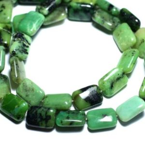Shop Chrysoprase Bead Shapes! 2PC – stone – Chrysoprase Rectangles 14x10mm – 8741140007703 beads | Natural genuine other-shape Chrysoprase beads for beading and jewelry making.  #jewelry #beads #beadedjewelry #diyjewelry #jewelrymaking #beadstore #beading #affiliate #ad