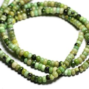 Shop Chrysoprase Rondelle Beads! 10pc – stone beads – Chrysoprase Rondelles 6 x 3-4mm – 4558550084392 | Natural genuine rondelle Chrysoprase beads for beading and jewelry making.  #jewelry #beads #beadedjewelry #diyjewelry #jewelrymaking #beadstore #beading #affiliate #ad