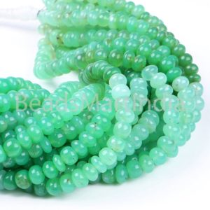 Shop Chrysoprase Rondelle Beads! Shaded Chrysoprase Smooth Rondelle Beads, Chrysoprase Smooth Beads, Chrysoprase Rondelle Beads, Chrysoprase Beads, Natural Chrysoprase Beads | Natural genuine rondelle Chrysoprase beads for beading and jewelry making.  #jewelry #beads #beadedjewelry #diyjewelry #jewelrymaking #beadstore #beading #affiliate #ad