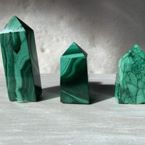 Shop Malachite Points & Wands! Chunky Malachite Obelisk Towers with Reiki Energy | Stone of Transformation | Protection Crystal | Heart Chakra | Heart | Wealth Prosperity | Natural genuine stones & crystals in various shapes & sizes. Buy raw cut, tumbled, or polished gemstones for making jewelry or crystal healing energy vibration raising reiki stones. #crystals #gemstones #crystalhealing #crystalsandgemstones #energyhealing #affiliate #ad