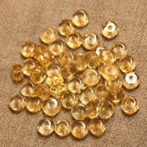 Shop Citrine Faceted Beads! Wire 39cm env – stone beads – Citrine faceted Rondelles 7x4mm 66pc | Natural genuine faceted Citrine beads for beading and jewelry making.  #jewelry #beads #beadedjewelry #diyjewelry #jewelrymaking #beadstore #beading #affiliate #ad
