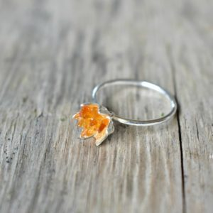 Shop Citrine Rings! Rough Citrine Ring, Lotus Flower Ring in Silver, Uncut Rough Gemstone Birthstone Ring, Orange Citrine Jewelry, November Birthstone Ring | Natural genuine Citrine rings, simple unique handcrafted gemstone rings. #rings #jewelry #shopping #gift #handmade #fashion #style #affiliate #ad
