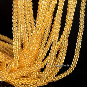 Shop Citrine Beads! 3mm Golden Honey Citrine Grade Aa Gemstone Yellow Round 3mm Loose Beads 16 Inch Full Strand (90113630-107 – 3mm D) | Natural genuine beads Citrine beads for beading and jewelry making.  #jewelry #beads #beadedjewelry #diyjewelry #jewelrymaking #beadstore #beading #affiliate #ad