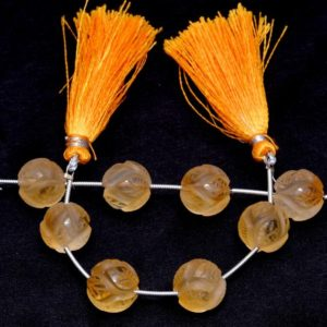 Shop Citrine Round Beads! Citrine Gemstone Carving Frosted Beads | 4 Beads Strand | Citrine Semi Precious Gemstone Carving 12mm Round Loose Beads for Jewelry Making | Natural genuine round Citrine beads for beading and jewelry making.  #jewelry #beads #beadedjewelry #diyjewelry #jewelrymaking #beadstore #beading #affiliate #ad