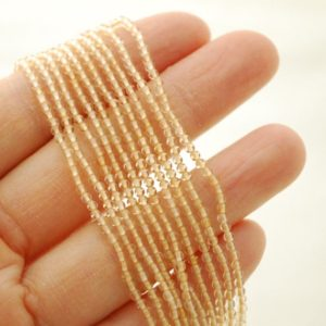"Shop Citrine Beads! High Quality Grade A Natural Citrine Semi-Precious Gemstone Round Beads – 2mm – 15.5"" strand 