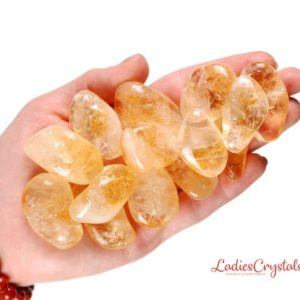 Shop Tumbled Citrine Crystals & Pocket Stones! One Citrine Tumbled Stone, Citrine Tumbled Stones, Zodiac Citrine Tumbled Stones, Healing Citrine Tumbled Stones, Zodiac Sign Stone, Citrine | Natural genuine stones & crystals in various shapes & sizes. Buy raw cut, tumbled, or polished gemstones for making jewelry or crystal healing energy vibration raising reiki stones. #crystals #gemstones #crystalhealing #crystalsandgemstones #energyhealing #affiliate #ad