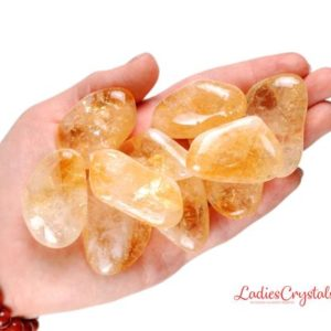 Shop Tumbled Citrine Crystals & Pocket Stones! One XL Citrine Tumbled Stone, Citrine Tumbled Stones, Zodiac Citrine Tumbled Stones, Healing Citrine Tumbled Stones, Zodiac Sign Stones | Natural genuine stones & crystals in various shapes & sizes. Buy raw cut, tumbled, or polished gemstones for making jewelry or crystal healing energy vibration raising reiki stones. #crystals #gemstones #crystalhealing #crystalsandgemstones #energyhealing #affiliate #ad