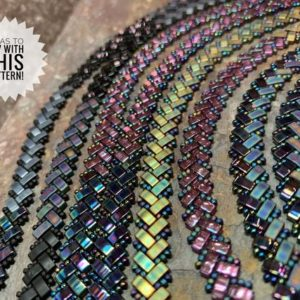 Shop Jewelry Making Kits! Complete Kit including Tutorial for Herringbone Wrap Bracelet with Half Tilas | Shop jewelry making and beading supplies, tools & findings for DIY jewelry making and crafts. #jewelrymaking #diyjewelry #jewelrycrafts #jewelrysupplies #beading #affiliate #ad