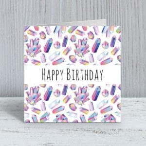 Shop Printable Crystal Cards, Pages, & Posters! Crystal Birthday Card / Crystal Card / Crystal Happy Birthday / Crystal Gifts / Crystals / Pretty Birthday Card / Happy Birthday / Birthday | Shop jewelry making and beading supplies, tools & findings for DIY jewelry making and crafts. #jewelrymaking #diyjewelry #jewelrycrafts #jewelrysupplies #beading #affiliate #ad