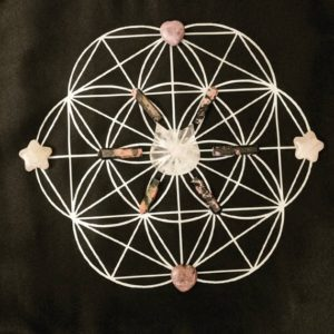 Shop Crystal Healing Charging Plates & Crystal Grid Mats! Crystal grid cloth, sacred geometry grid,  seed of life, crystal mat, altar cloth | Shop jewelry making and beading supplies, tools & findings for DIY jewelry making and crafts. #jewelrymaking #diyjewelry #jewelrycrafts #jewelrysupplies #beading #affiliate #ad