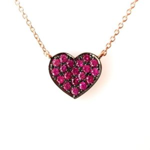 Shop Pink Sapphire Necklaces! Dainty Heart Necklace, Pink Sapphire Necklace, September Birthstone, Graduation Gift, Layered Gold Necklace, Handmade Jewelry   Natural genuine Pink Sapphire necklaces. Buy crystal jewelry, handmade handcrafted artisan jewelry for women.  Unique handmade gift ideas. #jewelry #beadednecklaces #beadedjewelry #gift #shopping #handmadejewelry #fashion #style #product #necklaces #affiliate #ad