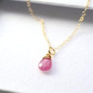 Shop Pink Sapphire Necklaces! Dainty Sapphire necklace gold, Sapphire necklace, September birthstone necklace, pink Sapphire necklace, Sapphire jewelry, her birthday gift   Natural genuine Pink Sapphire necklaces. Buy crystal jewelry, handmade handcrafted artisan jewelry for women.  Unique handmade gift ideas. #jewelry #beadednecklaces #beadedjewelry #gift #shopping #handmadejewelry #fashion #style #product #necklaces #affiliate #ad