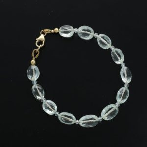 Shop Green Amethyst Bracelets! Delicate Green Amethyst and Micro Faceted Aquamarine Bracelet / Handmade Bracelet / Gemstone Jewelry / Gift for Her / Beaded Jewelry | Natural genuine Green Amethyst bracelets. Buy crystal jewelry, handmade handcrafted artisan jewelry for women.  Unique handmade gift ideas. #jewelry #beadedbracelets #beadedjewelry #gift #shopping #handmadejewelry #fashion #style #product #bracelets #affiliate #ad