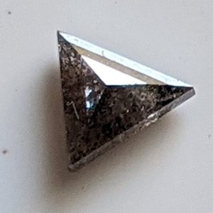 Shop Diamond Cabochons! 4.7mm Salt And Pepper Diamond, 0.35 Cts Fancy Diamond, Triangle Shape Faceted Diamond, Flat Back Diamond Cabochon for Ring – PPD883 | Natural genuine stones & crystals in various shapes & sizes. Buy raw cut, tumbled, or polished gemstones for making jewelry or crystal healing energy vibration raising reiki stones. #crystals #gemstones #crystalhealing #crystalsandgemstones #energyhealing #affiliate #ad