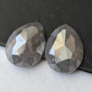 Shop Diamond Cabochons! 5.9×7.6mm Black Diamond, Natural Black Pear Shaped Rose Cut Diamond, 2 Pcs Flat Back Cabochon, Pear Diamond for Earrings – PPD675 | Natural genuine stones & crystals in various shapes & sizes. Buy raw cut, tumbled, or polished gemstones for making jewelry or crystal healing energy vibration raising reiki stones. #crystals #gemstones #crystalhealing #crystalsandgemstones #energyhealing #affiliate #ad