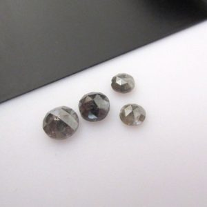 Shop Diamond Chip & Nugget Beads! 5pcs Rose Cut Diamond Loose, Rough Diamond Rose Cut, Grey Raw Diamond, Faceted Cabochon, 3mm To 4mm Each | Natural genuine chip Diamond beads for beading and jewelry making.  #jewelry #beads #beadedjewelry #diyjewelry #jewelrymaking #beadstore #beading #affiliate #ad