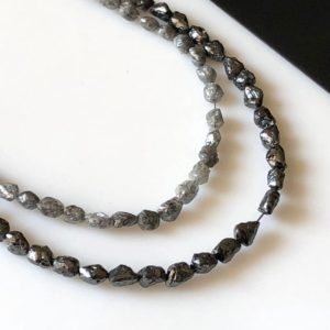 Shop Diamond Chip & Nugget Beads! Rough Natural Uncut Diamond Tumble Beads, 4mm To 5mm Raw Loose Smooth Skinned Diamond Tumbles, Loose Grey Black Diamond Beads, DDS546/11/12 | Natural genuine chip Diamond beads for beading and jewelry making.  #jewelry #beads #beadedjewelry #diyjewelry #jewelrymaking #beadstore #beading #affiliate #ad