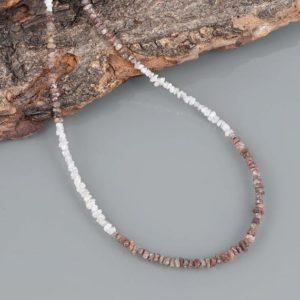 Shop Diamond Necklaces! Brown Diamond & White Diamond Rough Nuggets Necklace December Birthstone layering Necklace Diamond Jewelry Christmas Birthday Gift For Her   Natural genuine Diamond necklaces. Buy crystal jewelry, handmade handcrafted artisan jewelry for women.  Unique handmade gift ideas. #jewelry #beadednecklaces #beadedjewelry #gift #shopping #handmadejewelry #fashion #style #product #necklaces #affiliate #ad