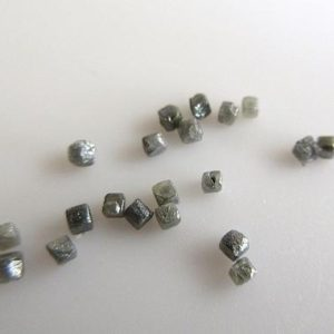 Shop Diamond Bead Shapes! Tiny 1-2mm Natural Grey Raw Uncut Lose Diamonds, Natural Grey Uncut Diamond Cubes Undrilled Box Beads, Sku-DD147 | Natural genuine other-shape Diamond beads for beading and jewelry making.  #jewelry #beads #beadedjewelry #diyjewelry #jewelrymaking #beadstore #beading #affiliate #ad