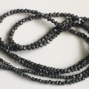 2-3mm Black Diamonds, Black Diamond Rondlles, Diamond Beads, Black Diamond Rondelle For Jewelry, Black Diamond Rondelle Beads (4IN To 16IN) | Natural genuine rondelle Diamond beads for beading and jewelry making.  #jewelry #beads #beadedjewelry #diyjewelry #jewelrymaking #beadstore #beading #affiliate #ad
