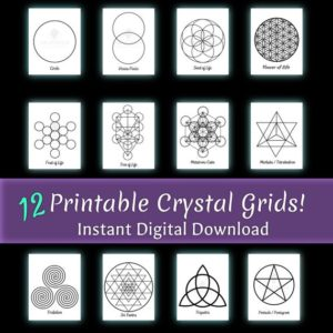 Shop Crystal Healing Charging Plates & Crystal Grid Mats! Digital Download. 12 Printable Crystal Grids. Manifestation. Meditation Tool. Set your Intentions. Sacred Geometry. Crystal Grid Mat. PDF's | Shop jewelry making and beading supplies, tools & findings for DIY jewelry making and crafts. #jewelrymaking #diyjewelry #jewelrycrafts #jewelrysupplies #beading #affiliate #ad