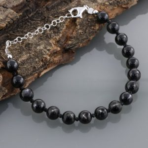 Shop Diopside Bracelets! Rare Black Star Diopside Bracelet, Black Star Diopside Beads , Sterling Silver Bracelet, Gemstone, Natural Black Star Diopside Beads, Gift | Natural genuine Diopside bracelets. Buy crystal jewelry, handmade handcrafted artisan jewelry for women.  Unique handmade gift ideas. #jewelry #beadedbracelets #beadedjewelry #gift #shopping #handmadejewelry #fashion #style #product #bracelets #affiliate #ad