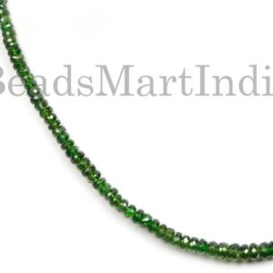 Shop Diopside Necklaces! Chrome Diopside Faceted Rondelle Shape Gemstone Necklace Beads, Chrome Diopside Beads, Chrome Diopside , Chrome Diopside Necklace | Natural genuine Diopside necklaces. Buy crystal jewelry, handmade handcrafted artisan jewelry for women.  Unique handmade gift ideas. #jewelry #beadednecklaces #beadedjewelry #gift #shopping #handmadejewelry #fashion #style #product #necklaces #affiliate #ad