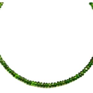 Shop Diopside Necklaces! Green Chrome Diopside Necklace Natural Solid Strand 14k Gold Filled or Sterling Silver 18 19 Inch  Faceted Beaded Dainty Simple | Natural genuine Diopside necklaces. Buy crystal jewelry, handmade handcrafted artisan jewelry for women.  Unique handmade gift ideas. #jewelry #beadednecklaces #beadedjewelry #gift #shopping #handmadejewelry #fashion #style #product #necklaces #affiliate #ad