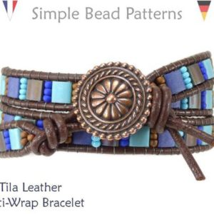 Shop Jewelry Making Kits! DIY Leather Wrap Bracelet Tutorial, Beaded Tila Wrap Bracelet DIY Tutorial, Multi Row Wrap Bracelet Tutorial, Simple Bead Patterns, P-00414 | Shop jewelry making and beading supplies, tools & findings for DIY jewelry making and crafts. #jewelrymaking #diyjewelry #jewelrycrafts #jewelrysupplies #beading #affiliate #ad