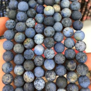 Shop Dumortierite Beads! Dumortierite Matte Beads, Natural Gemstone Beads, Round Stone Beads 4mm 6mm 8mm 10mm 12mm 15'' | Natural genuine round Dumortierite beads for beading and jewelry making.  #jewelry #beads #beadedjewelry #diyjewelry #jewelrymaking #beadstore #beading #affiliate #ad