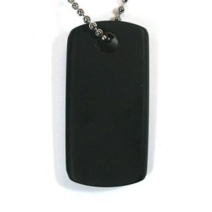 Shop Jet Necklaces! DVH Jet Mourning Jewelry Dog Tag Bead Pendant Matte Military Style Approx 38x22x4 (3195)   Natural genuine Jet necklaces. Buy crystal jewelry, handmade handcrafted artisan jewelry for women.  Unique handmade gift ideas. #jewelry #beadednecklaces #beadedjewelry #gift #shopping #handmadejewelry #fashion #style #product #necklaces #affiliate #ad
