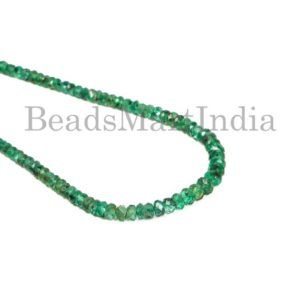 Shop Emerald Faceted Beads! Emerald Faceted Rondelle Beads, Emerald Faceted Beads, Emerald Rondelle Shape Gemstone Beads, Emerald Faceted Beads, Emerald Beads, Emerald | Natural genuine faceted Emerald beads for beading and jewelry making.  #jewelry #beads #beadedjewelry #diyjewelry #jewelrymaking #beadstore #beading #affiliate #ad