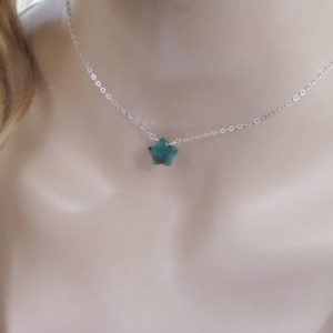 Shop Emerald Necklaces! Emerald Star Necklace, Celestial Jewelry, Raw Emerald Layering Necklace | Natural genuine Emerald necklaces. Buy crystal jewelry, handmade handcrafted artisan jewelry for women.  Unique handmade gift ideas. #jewelry #beadednecklaces #beadedjewelry #gift #shopping #handmadejewelry #fashion #style #product #necklaces #affiliate #ad