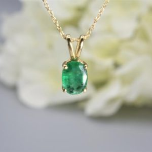 Shop Emerald Pendants! Emerald Gold Pendant – Natural Emerald Necklace In 14kt Solid Gold – Fine Jewelry – Colombian Emerald – May Birthstone – Oval Emerald | Natural genuine Emerald pendants. Buy crystal jewelry, handmade handcrafted artisan jewelry for women.  Unique handmade gift ideas. #jewelry #beadedpendants #beadedjewelry #gift #shopping #handmadejewelry #fashion #style #product #pendants #affiliate #ad