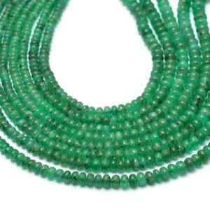 Shop Emerald Rondelle Beads! Natural AAA+ Emerald 3mm-5mm Smooth Rondelle Beads | 17inch Strand | Natural Green Emerald Precious Gemstone Smooth Rondelle Loose Beads | Natural genuine rondelle Emerald beads for beading and jewelry making.  #jewelry #beads #beadedjewelry #diyjewelry #jewelrymaking #beadstore #beading #affiliate #ad