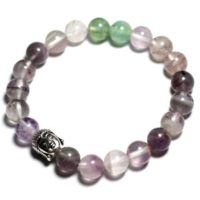 Buddha And Gemstone – Fluorite Bracelet | Natural genuine Gemstone jewelry. Buy crystal jewelry, handmade handcrafted artisan jewelry for women.  Unique handmade gift ideas. #jewelry #beadedjewelry #beadedjewelry #gift #shopping #handmadejewelry #fashion #style #product #jewelry #affiliate #ad