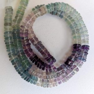 Shop Fluorite Faceted Beads! 6mm Fluorite Faceted Spacer Beads, Natural Multi Fluorite Beads, Fluorite Tyres, Multi Fluorite Beads, 8IN Multi Fluorite For Jewelry-PSG94 | Natural genuine faceted Fluorite beads for beading and jewelry making.  #jewelry #beads #beadedjewelry #diyjewelry #jewelrymaking #beadstore #beading #affiliate #ad