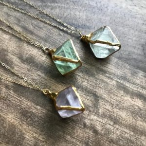 Shop Fluorite Jewelry! Fluorite Necklace, rough Fluorite Necklace, raw Crystal Necklace, green Fluorite Necklace, raw Stone Necklace, fluorite Nugget Necklace | Natural genuine Fluorite jewelry. Buy crystal jewelry, handmade handcrafted artisan jewelry for women.  Unique handmade gift ideas. #jewelry #beadedjewelry #beadedjewelry #gift #shopping #handmadejewelry #fashion #style #product #jewelry #affiliate #ad