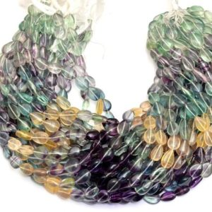 Shop Fluorite Bead Shapes! Natural Multi Fluorite Pear 9x12mm Smooth Beads | 14inch Strand | AAA Fluorite Semi Precious Loose Gemstone Pear Beads for Jewelry Making | | Natural genuine other-shape Fluorite beads for beading and jewelry making.  #jewelry #beads #beadedjewelry #diyjewelry #jewelrymaking #beadstore #beading #affiliate #ad