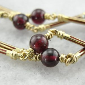 Shop Garnet Necklaces! Ancient Style Garnet and Gold Bar Necklace P732FX-R | Natural genuine Garnet necklaces. Buy crystal jewelry, handmade handcrafted artisan jewelry for women.  Unique handmade gift ideas. #jewelry #beadednecklaces #beadedjewelry #gift #shopping #handmadejewelry #fashion #style #product #necklaces #affiliate #ad