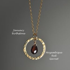 Shop Garnet Necklaces! Eternity Red Garnet Necklace in Sterling Silver, 14k Gold Fill // January Birthstone // Garnet Briolette Necklace // 2nd Anniversary Gift | Natural genuine Garnet necklaces. Buy crystal jewelry, handmade handcrafted artisan jewelry for women.  Unique handmade gift ideas. #jewelry #beadednecklaces #beadedjewelry #gift #shopping #handmadejewelry #fashion #style #product #necklaces #affiliate #ad