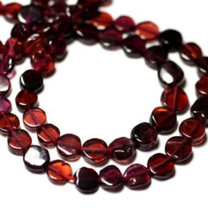 Shop Garnet Bead Shapes! Wire 34cm 59pc – stone beads – approx 5-6mm – 8741140012783 pucks Garnet | Natural genuine other-shape Garnet beads for beading and jewelry making.  #jewelry #beads #beadedjewelry #diyjewelry #jewelrymaking #beadstore #beading #affiliate #ad