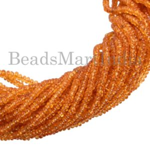 Shop Garnet Rondelle Beads! Spessartine Garnet Beads, Spessartine Garnet Smooth Beads, Spessartine Garnet Rondelle Beads, Spessartine Garnet Smooth Rondelle beads | Natural genuine rondelle Garnet beads for beading and jewelry making.  #jewelry #beads #beadedjewelry #diyjewelry #jewelrymaking #beadstore #beading #affiliate #ad