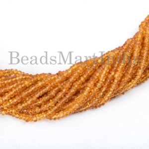 Shop Garnet Rondelle Beads! Spessartine Garnet Smooth Rondelle Shape Beads, Spessartine Garnet Smooth Beads, Spessartine Garnet Rondelle Beads, Spessartine Garnet | Natural genuine rondelle Garnet beads for beading and jewelry making.  #jewelry #beads #beadedjewelry #diyjewelry #jewelrymaking #beadstore #beading #affiliate #ad