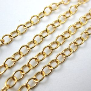 Shop Chain for Jewelry Making! Gold Chain, Gold Plated Over 925 Sterling Silver Chain, Unfinished Chain, Jewelry Making Chain, Cable Oval Chain (5 Feet) Sku: 101014-vm | Shop jewelry making and beading supplies, tools & findings for DIY jewelry making and crafts. #jewelrymaking #diyjewelry #jewelrycrafts #jewelrysupplies #beading #affiliate #ad