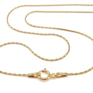 Shop Chain for Jewelry Making! Gold Filled Beading Chain Necklace With Spring Clasp ~ 18″ | Shop jewelry making and beading supplies, tools & findings for DIY jewelry making and crafts. #jewelrymaking #diyjewelry #jewelrycrafts #jewelrysupplies #beading #affiliate #ad