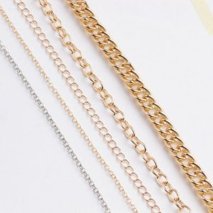 Shop Chain for Jewelry Making! Golden Silver Chain, Plain Chain, Cable Chain, Jewelry Chain, Chain Necklace, Long Silver Necklace Chain, finished Chain | Shop jewelry making and beading supplies, tools & findings for DIY jewelry making and crafts. #jewelrymaking #diyjewelry #jewelrycrafts #jewelrysupplies #beading #affiliate #ad
