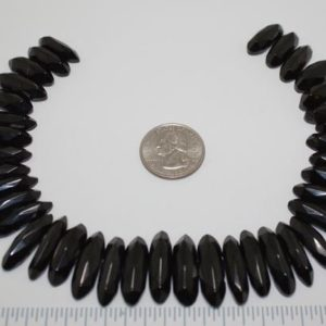 Shop Jet Beads! Gorgeous Antique Victorian Faceted Whitby Jet 2 Holed Beads Loose 38 PCS   Natural genuine other-shape Jet beads for beading and jewelry making.  #jewelry #beads #beadedjewelry #diyjewelry #jewelrymaking #beadstore #beading #affiliate #ad