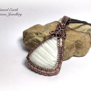 Shop Scolecite Necklaces! Grade A Scolecite Pendant Necklace Wire Wrapped Gemstone Pendant Necklace Crystal Healing Meditation Stone 69mm | Natural genuine Scolecite necklaces. Buy crystal jewelry, handmade handcrafted artisan jewelry for women.  Unique handmade gift ideas. #jewelry #beadednecklaces #beadedjewelry #gift #shopping #handmadejewelry #fashion #style #product #necklaces #affiliate #ad